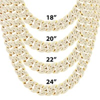 Men's 14mm Baguette  Miami Cuban Custom Necklace