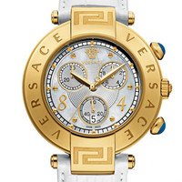 Versace 'Reve Chrono' Leather Strap Watch, 40mm | Nordstrom