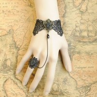 Wisedeal 2013 fashion lace retro bracelet with ring worldwide