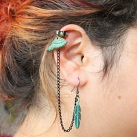 Lord of The Rings - Patina Elven Warrior EAR CUFF