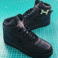 Hermes X Nike Air Force 1 High Midnight Sneakers Shoes - Best Online Sale