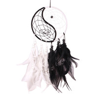Vintage Yin & Yang Dreamcatcher with Feathers