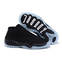 kids air jordan 11 future weave black l blue sneaker shoe size us 11c 3y-1