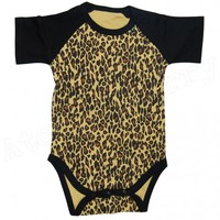 Leopard Print Baby Onesuit Infant Rockabilly Punk Retro Cool Gothic