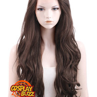"26"" Long Curly Dark Brown Lace Front Synthetic Hair Wig LF146 - CosplayBuzz"