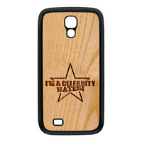 Carved on Wood Effect_Celebrity Hater Black Silicon Rubber Case for Galaxy S4 by Chargrilled