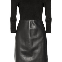 The Row Frehnah suede and leather dress NET-A-PORTER.COM