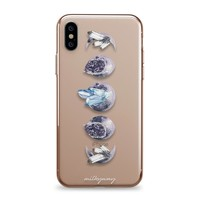 Crystal Moon Phases - iPhone Clear Case