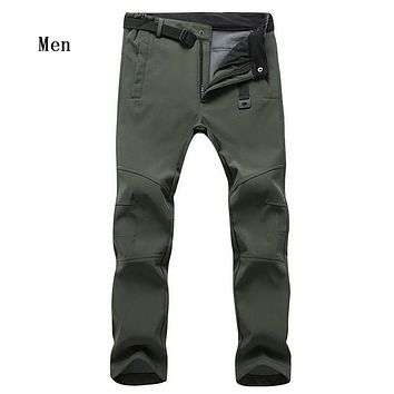 Fleece Soft-shell Windproof Casual High Quality Pants