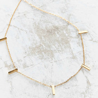 Seoul Little 18k Gold-Plated Charm Choker Necklace - Urban Outfitters