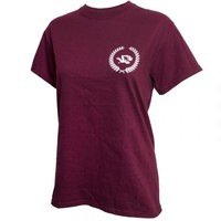 Mizzou Juniors' Maroon Crew Neck T-Shirt