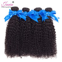 JARIN Indian Kinky Curly Hair Extensions Human Hair Weaving 4 Bundles 100G/pc non Remy Hair Weave Fast Shipping Natural Color