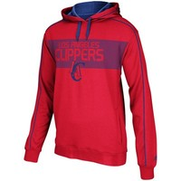 adidas Los Angeles Clippers Striped Pullover Hoodie - Red