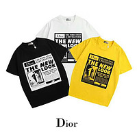 DIOR 2019 early spring new tide brand men and women round neck short-sleeved T-shirt