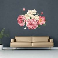Peony Wall Decal Peony Flowers Wall Sticker Vintage Watercolor Peony Wall Stickers Floral Wall Decals Wall Decor cik2264