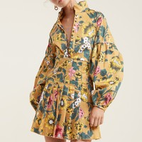 C/MEO COLLECTIVE ANOTHER LOVER LONG SLEEVE DRESS black floral