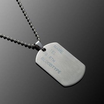 Stainless Steel Mens Necklace Stainless Steel Pendant  Dog Tags Army Nameplate Mens Pendant Anchor Note cross Shaving blade