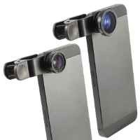 XCSOURCE Clip 180 Degree Fish Eye Lens + Wide Angle + Micro Lens Kit for iPhone 4 4S 4G 5 5G 5S Samsung Galaxy S3 i9300 S4 i9500 cell phone (Black) DC264B