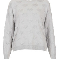 Petite Knitted Quilted Heart Sweater - New In This Week - New In - Topshop USA