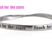 Fashion personality equilibrium bangle, the lettering bracelet (Reach for the stars),a perfect gift !