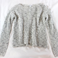 """~~~ CASUAL COOL ~~~ BAR III GRAY/BLACK """"SPECKLED"""" OPEN KNIT SWEATER ~~~ XS/S"""
