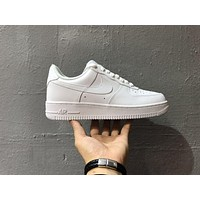 Originals Nike Air Force One 1 Classic Low All White Shoes AF1 '07 315122-111