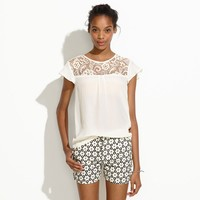 Crochet Lace Top - blouses - Women's SHIRTS & TOPS - Madewell
