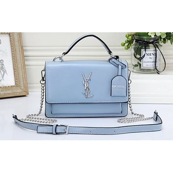 YSL fashion hot selling lady casual solid color clamshell shopping shoulder bag #3