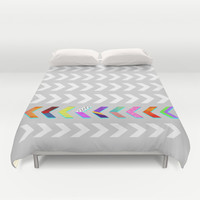 Go your own way v.2 /Grey Duvet Cover by Elisabeth Fredriksson