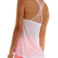 Caged Macrame Racerback Tank Top by Charlotte Russe