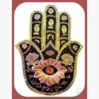 Gold & Black Hamsa Hand Incense Burner