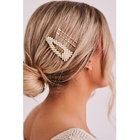 Feeling Good Today Hair Clips (Gold)