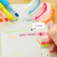 Hot 3 Way Multi Tip Writing Markers Highlighters 10pcs with 10 Different Colors