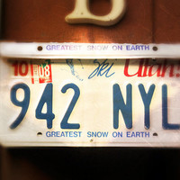 """Upcycled Wall Mount Utah """"Greatest Snow On Earth"""" License Plate Mailbox"""