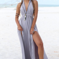 Truly Yours Grey Maxi Dress