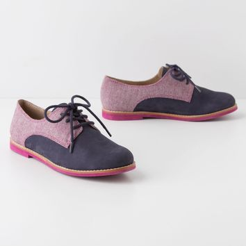 Tweed-Topped Oxfords