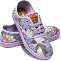 Lilac Faded Tropical Youth Cordones