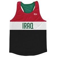 Iraq Country Finish Line Running Tank Top Racerback Track and Cross Country Singlet Jersey