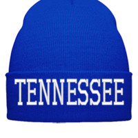 TENNESSEE EMBROIDERY HAT - Beanie Cuffed Knit Cap