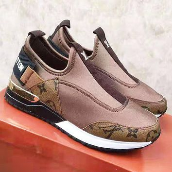 Louis Vuitton LV Newest Popular Women Casual Shoes Sneakers Coffee