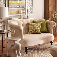 Colette Flax Beige Loveseat