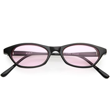 Kids Oval Shaped Retro Inspired Color Tinted Sunglasses D203