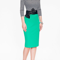 Kelly Green Stretch Pencil Skirt - Ready to Ship