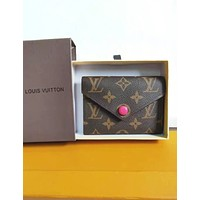 LV Louis Vuitton High Quality Popular Women Chic Leather Small Coin Purse Wallet