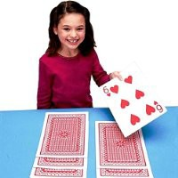 """Giant Jumbo Deck of Big Playing Cards Fun Full Poker Game Set - Measures 8-1/4"""" x 11-3/4"""" by Super Z Outlet®"""