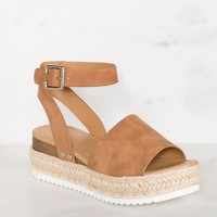 Weekend Platform Sandals - Tan