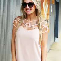 Charlotte's Web Blouse {Nude}