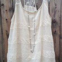 Ivory Extra Long Pearl & Chain Necklace