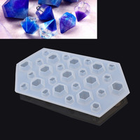 1 piece Clear Silicone DIY Diamond Mold Mould Handmade Jewelry Making Tools Craft