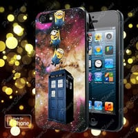 Minions Drop to Tardis case for iPhone 5, 5S, 5C, 4, 4S and Samsung Galaxy S3, S4